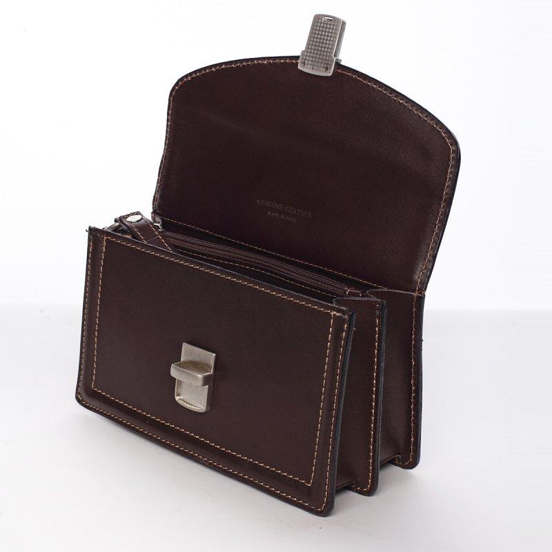 Pánská kožená taška do ruky Otakar hnědá