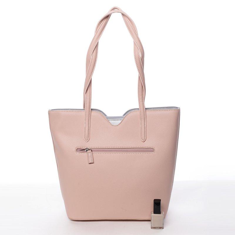 Dámská koženková kabelka Magdaléna růžová