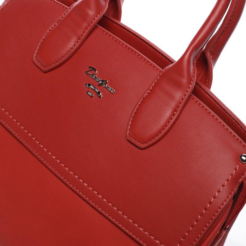 Dámská kufříková koženková kabelka Magda červená
