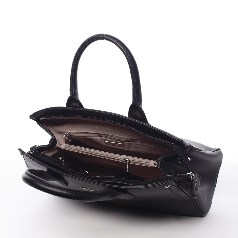 Dámská kufříková koženková kabelka Magda černá