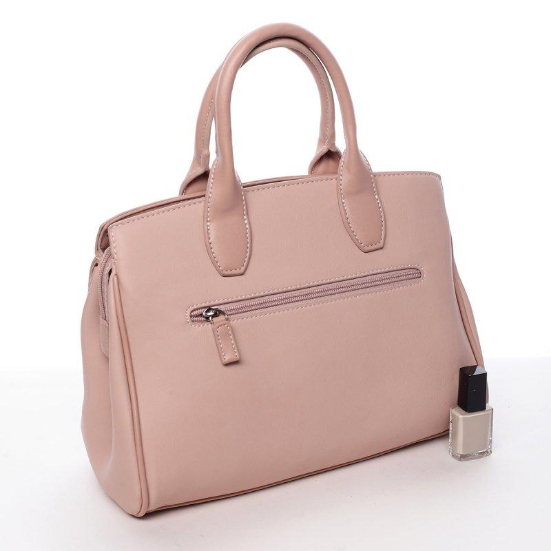 Dámská kufříková koženková kabelka Magda růžová