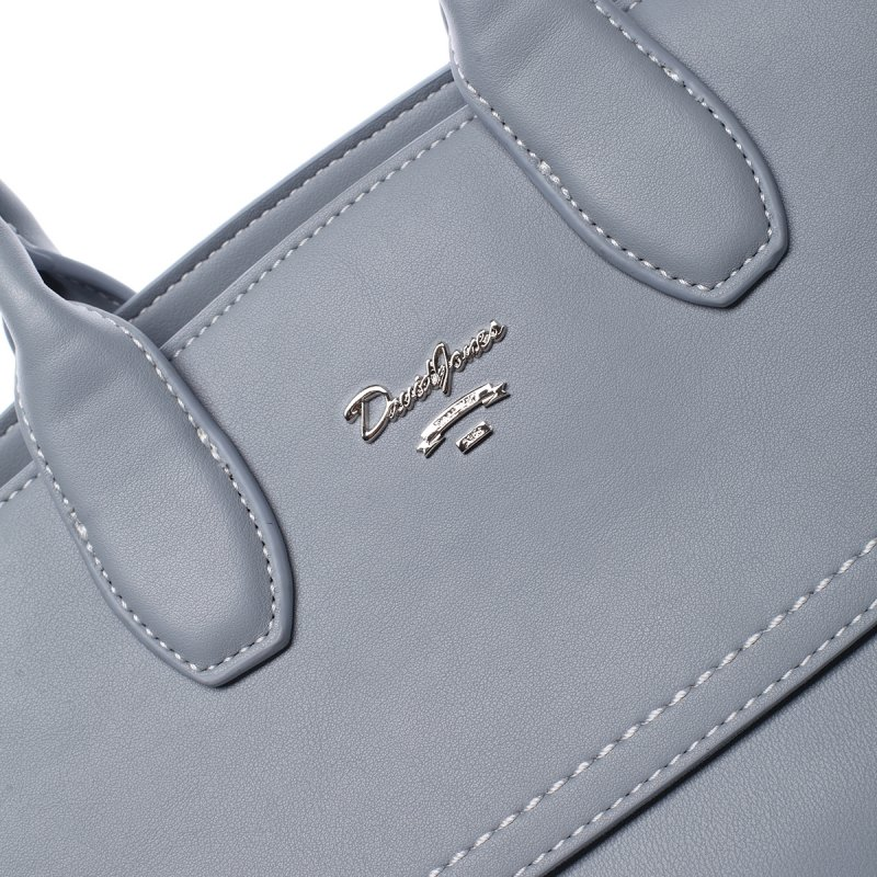 Dámská kufříková koženková kabelka Magda modrá
