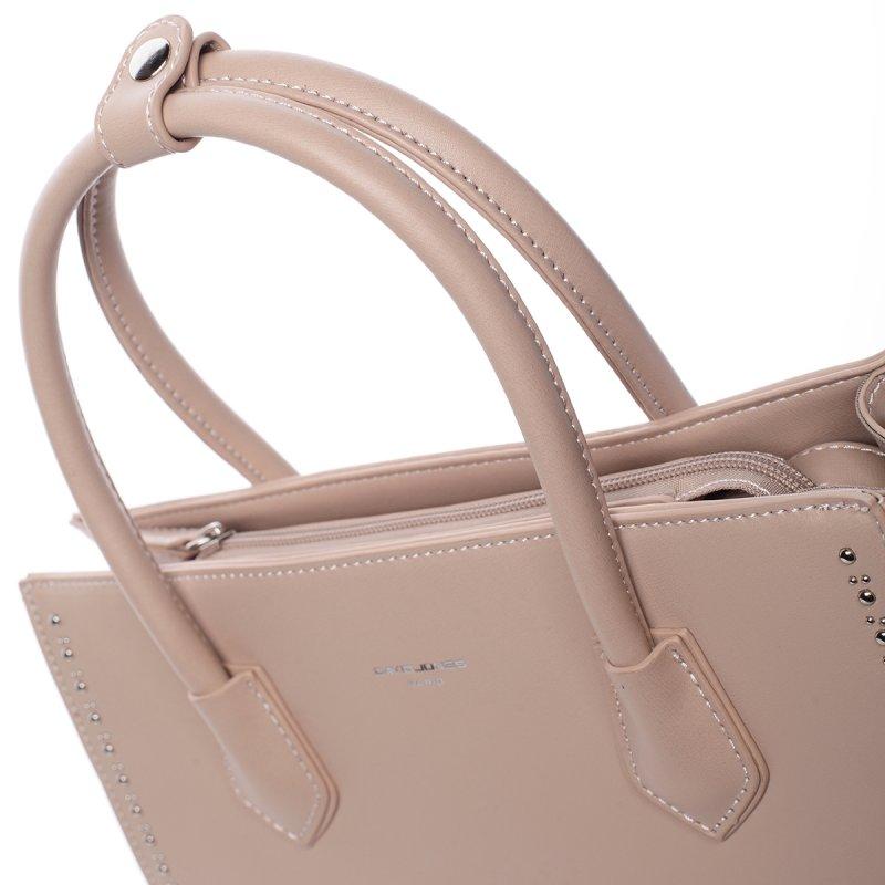 Módní dámská koženková kabelka Larisa růžová