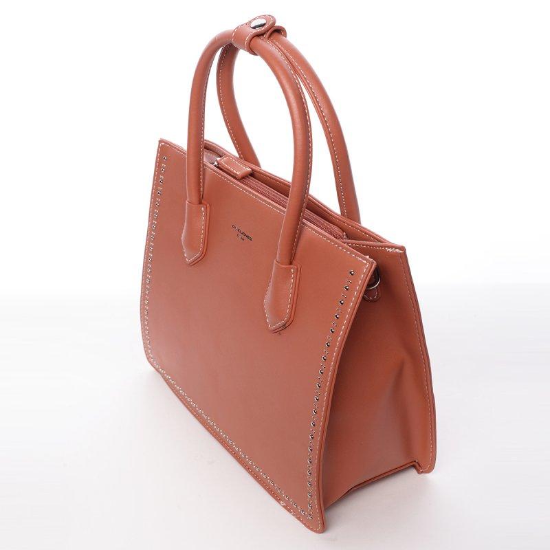 Módní dámská koženková kabelka Larisa červená