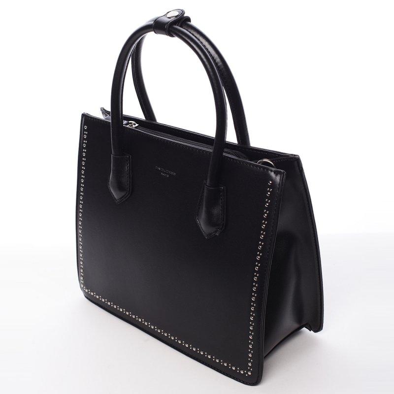 Módní dámská koženková kabelka Larisa černá