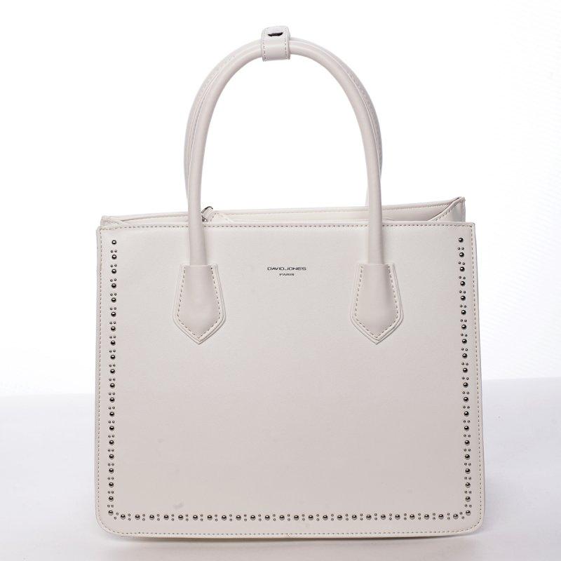 Módní dámská koženková kabelka Larisa bílá