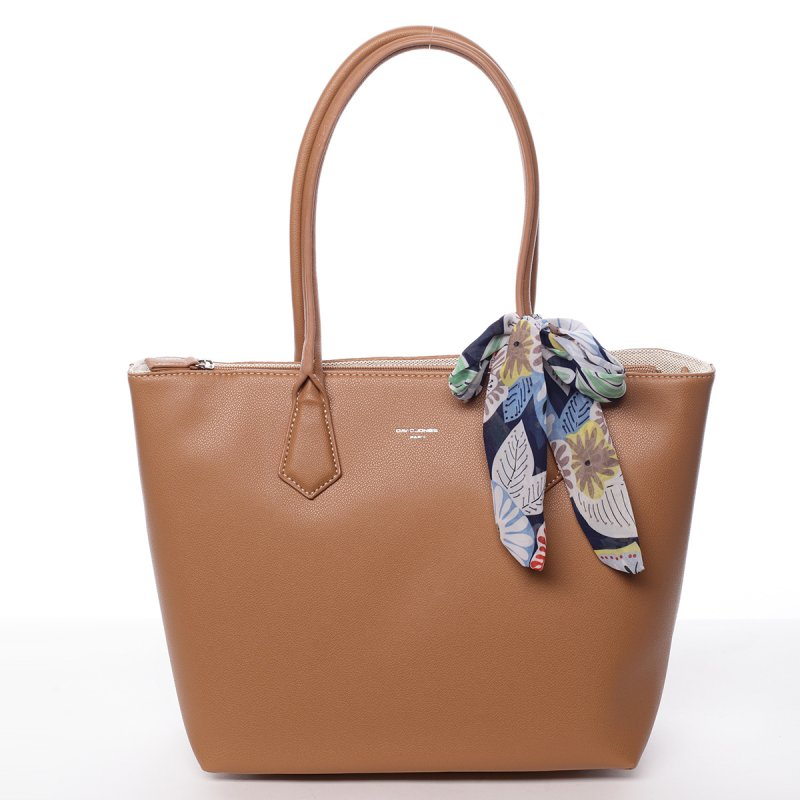Dámská koženková kabelka Tína koňaková