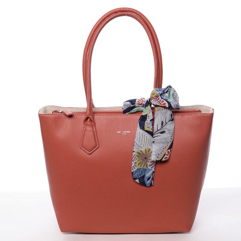 Dámská koženková kabelka Tína červená