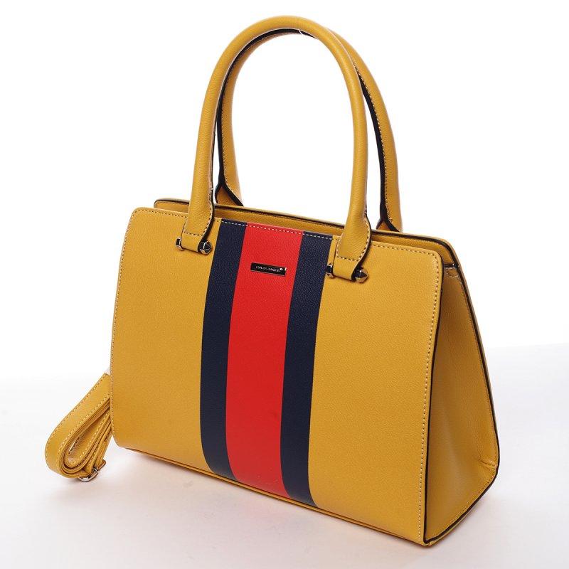 Dámská kufříková kabelka Anita žlutá