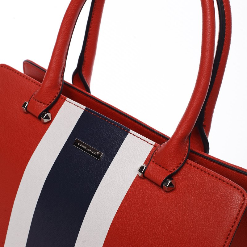 Dámská kufříková kabelka Anita červená