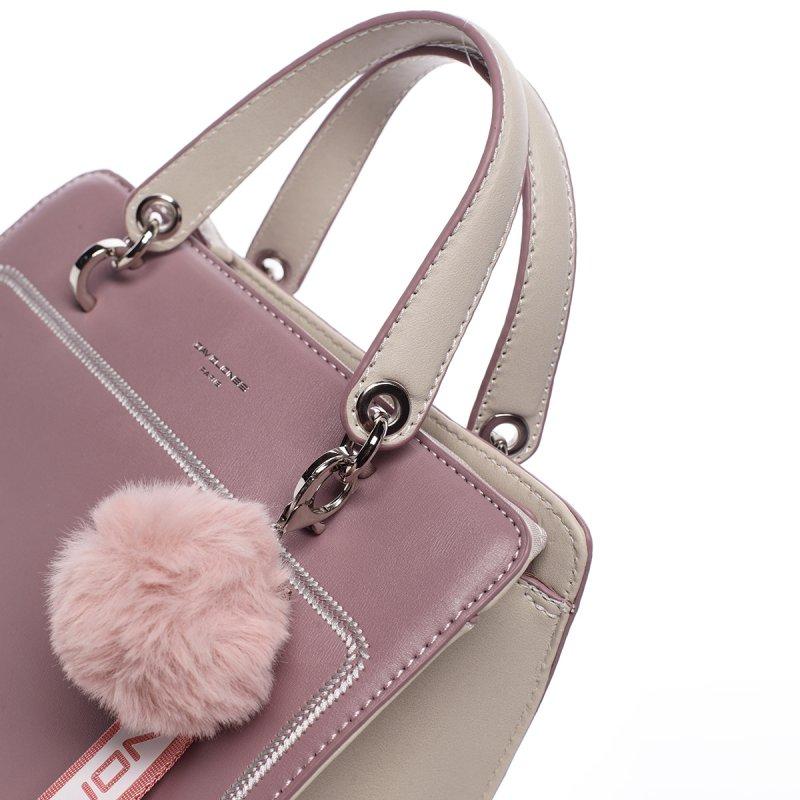 Nepřehlédnutelná dámská koženková kabelka Anika fialová