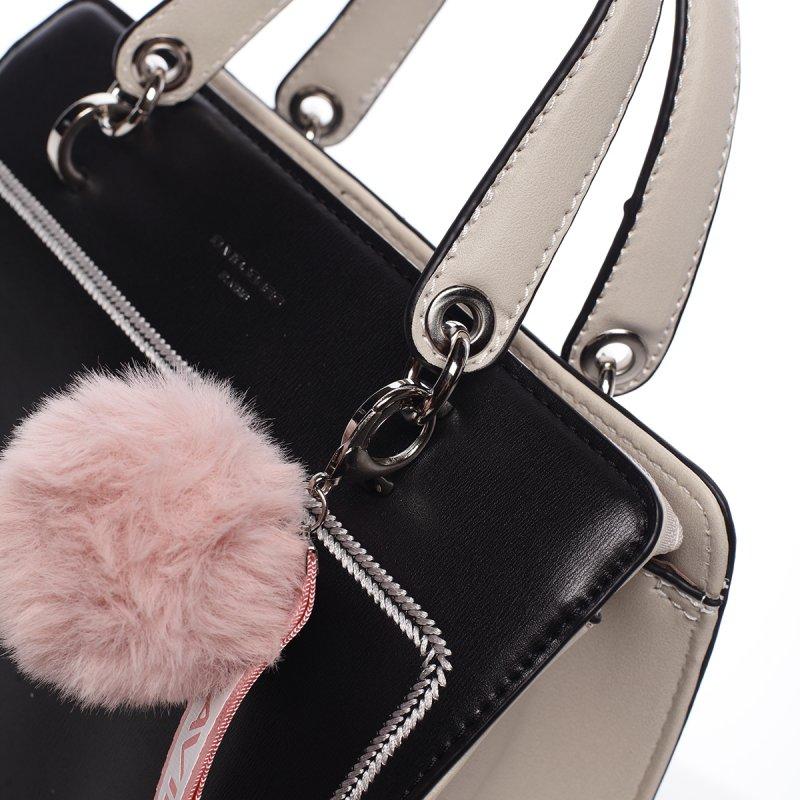 Nepřehlédnutelná dámská koženková kabelka Anika černá