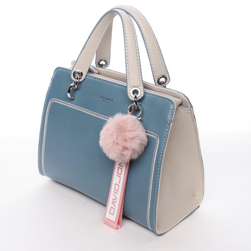 Nepřehlédnutelná dámská koženková kabelka Anika modrá
