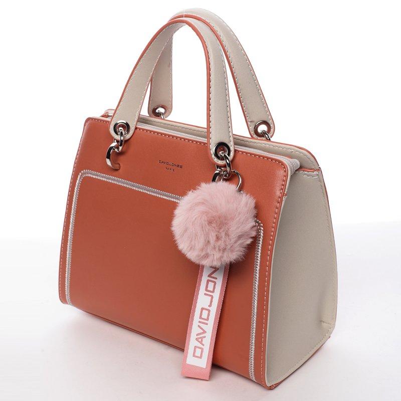 Nepřehlédnutelná dámská koženková kabelka Anika oranžová