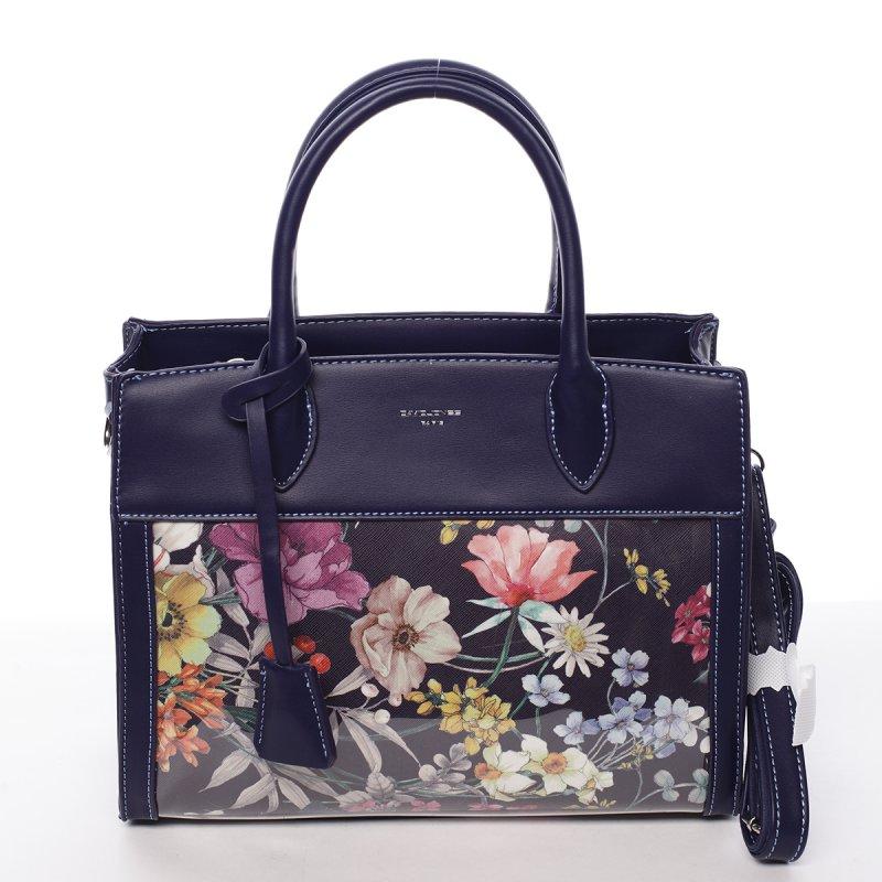 Luxusní dámská koženková kabelka Alina černá