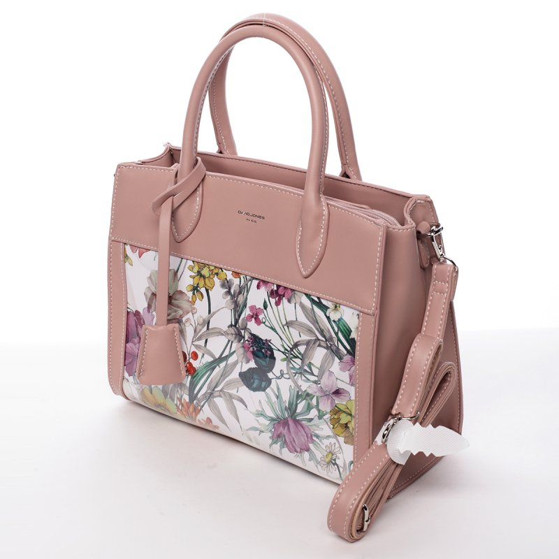 Luxusní dámská koženková kabelka Alina růžová