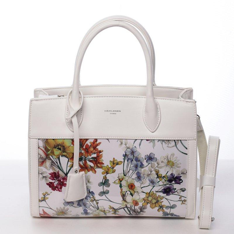 Luxusní dámská koženková kabelka Alina bílá