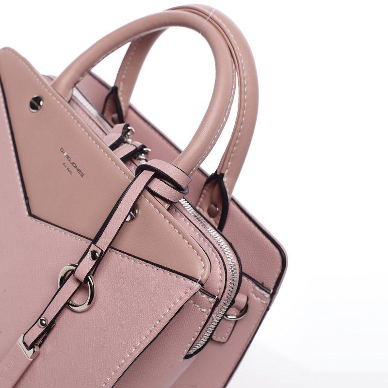 Impozantní dámská koženková kabelka Marta růžová
