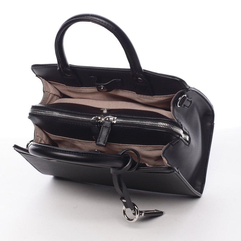 Impozantní dámská koženková kabelka Marta černá