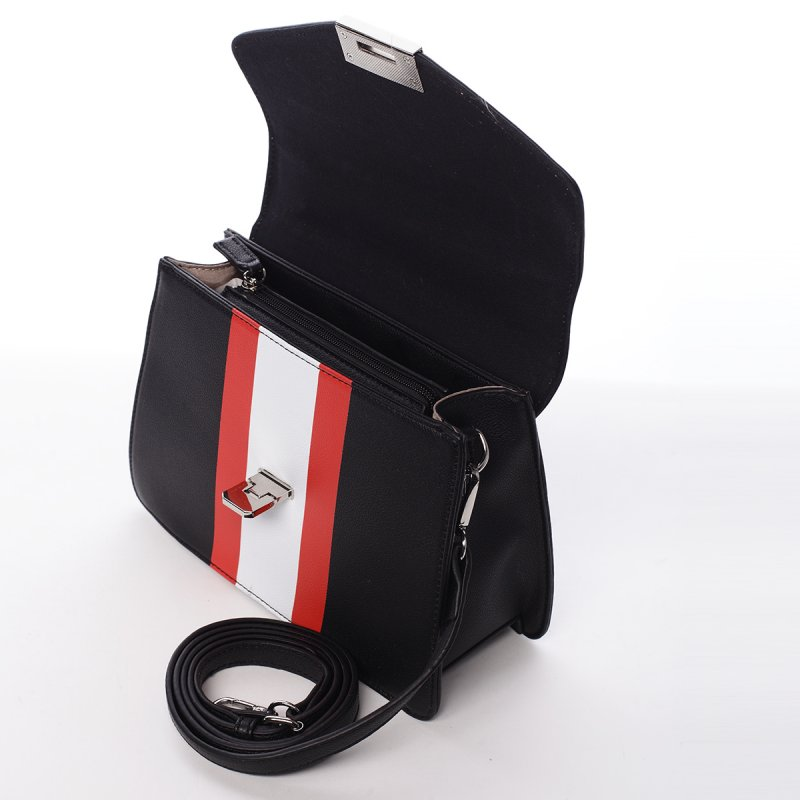 Exkluzivní dámská koženková kabelka Tiana černá