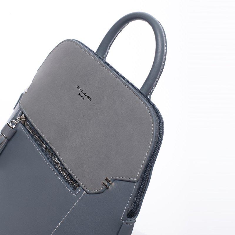 Městský koženkový batoh Diana modrý