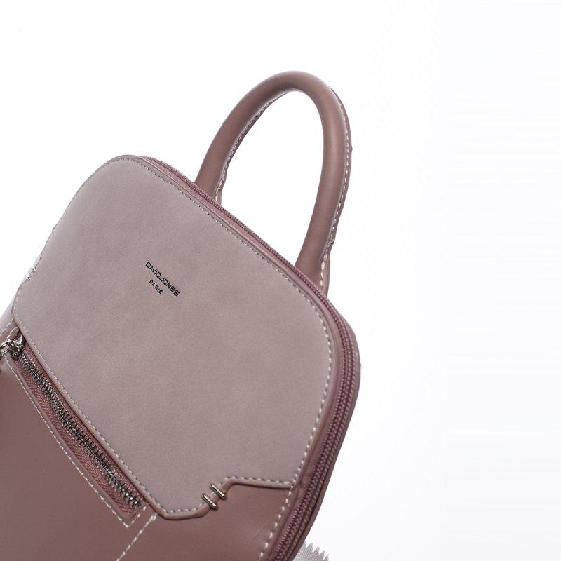 Městský koženkový batoh Diana růžový