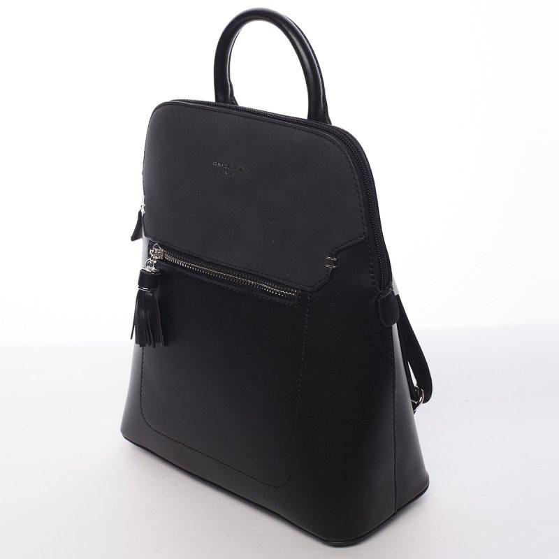 Městský koženkový batoh Diana černý