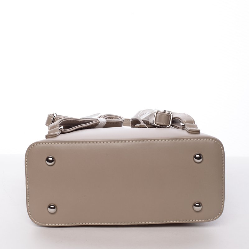 Městský koženkový batoh Diana camel