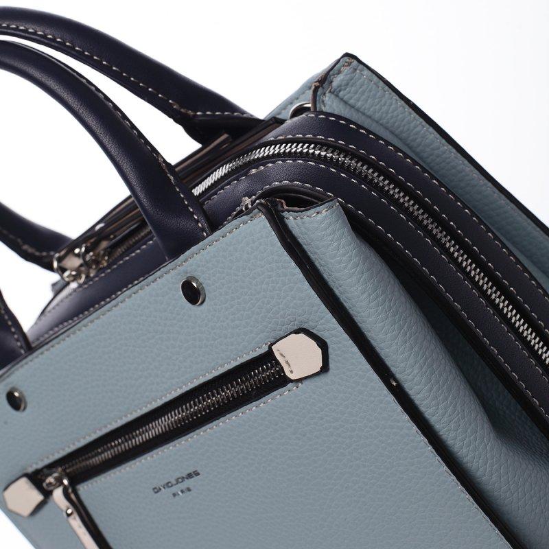 Exluzivní koženková dámská kabelka Mell modrá
