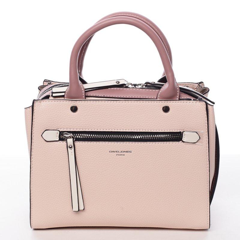 Exluzivní koženková dámská kabelka Mell růžová
