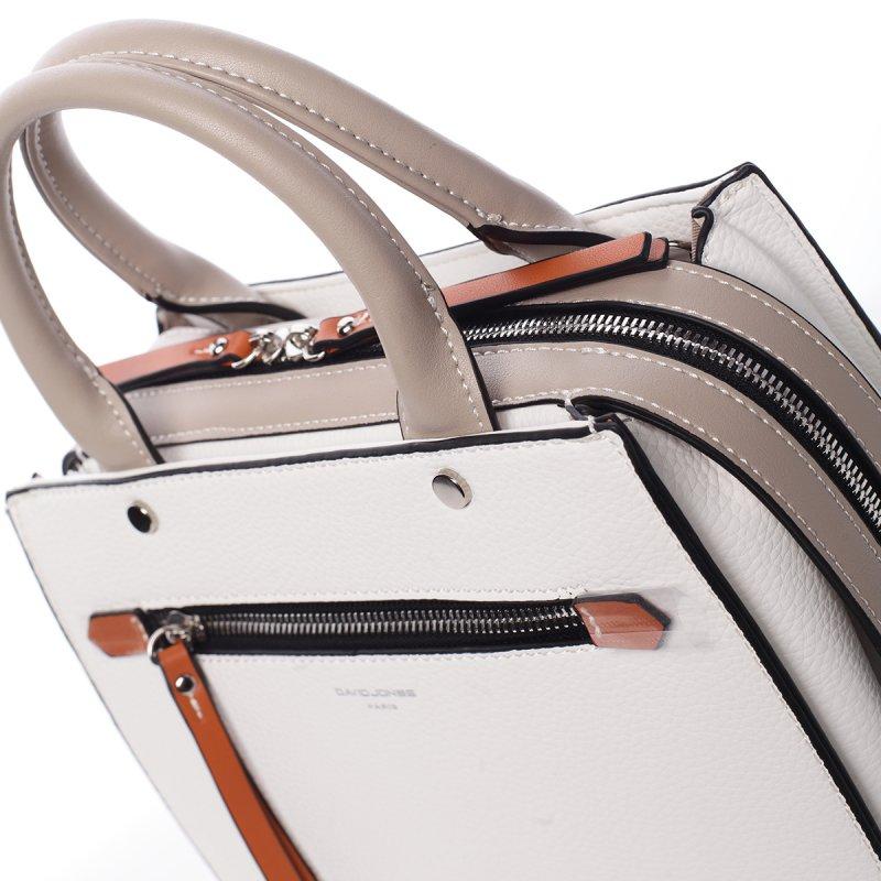Exluzivní koženková dámská kabelka Mell bílá