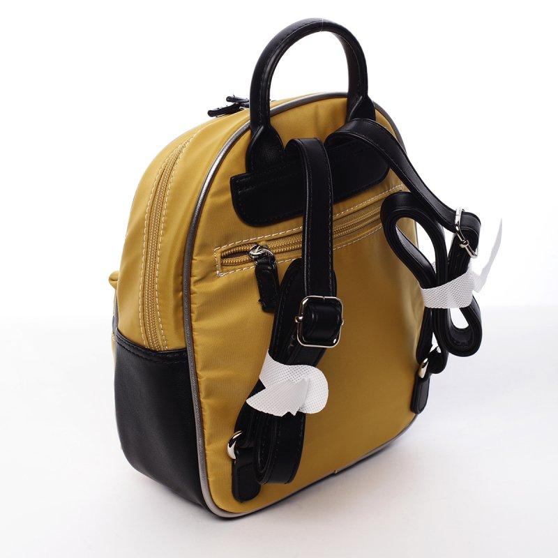 Kombinovaný dámský městský batoh Lidie žlutý