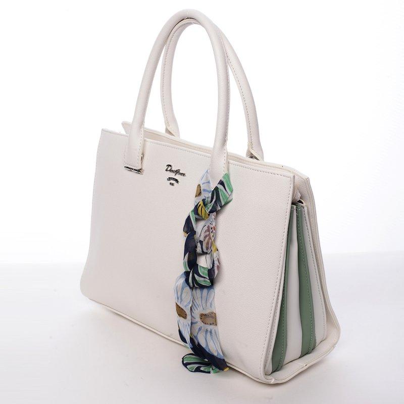 Dámská koženková kabelka Milly bílá
