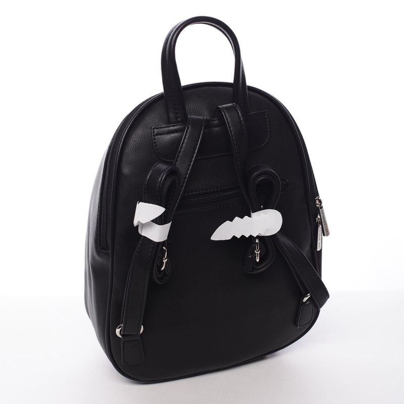 Koženkový batůžek Hortenzia černá