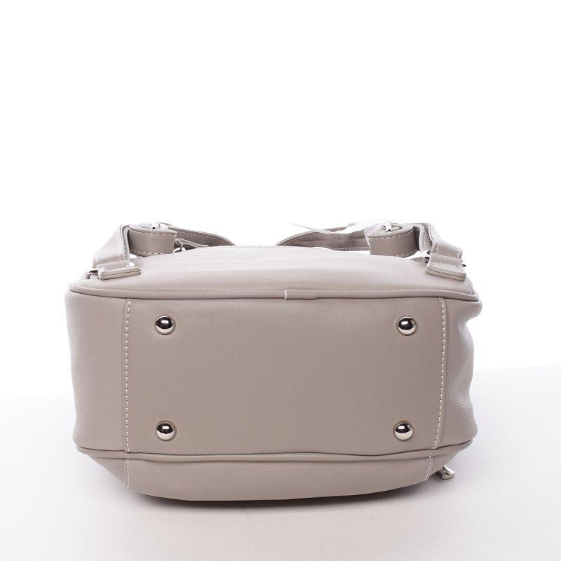 Koženkový batůžek Hortenzia šedá