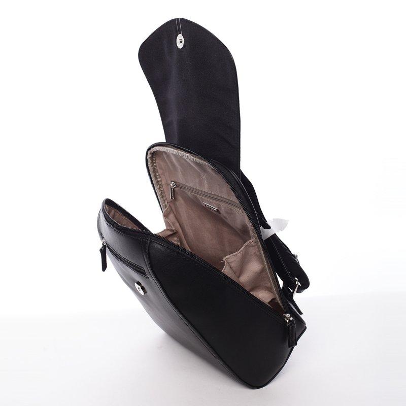 Elegantní dámský batůžek Zuzana černá