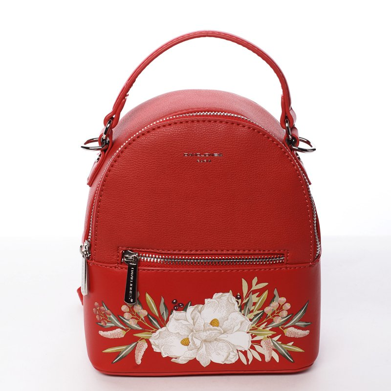 Módní stylový batůžek Jozefína červená