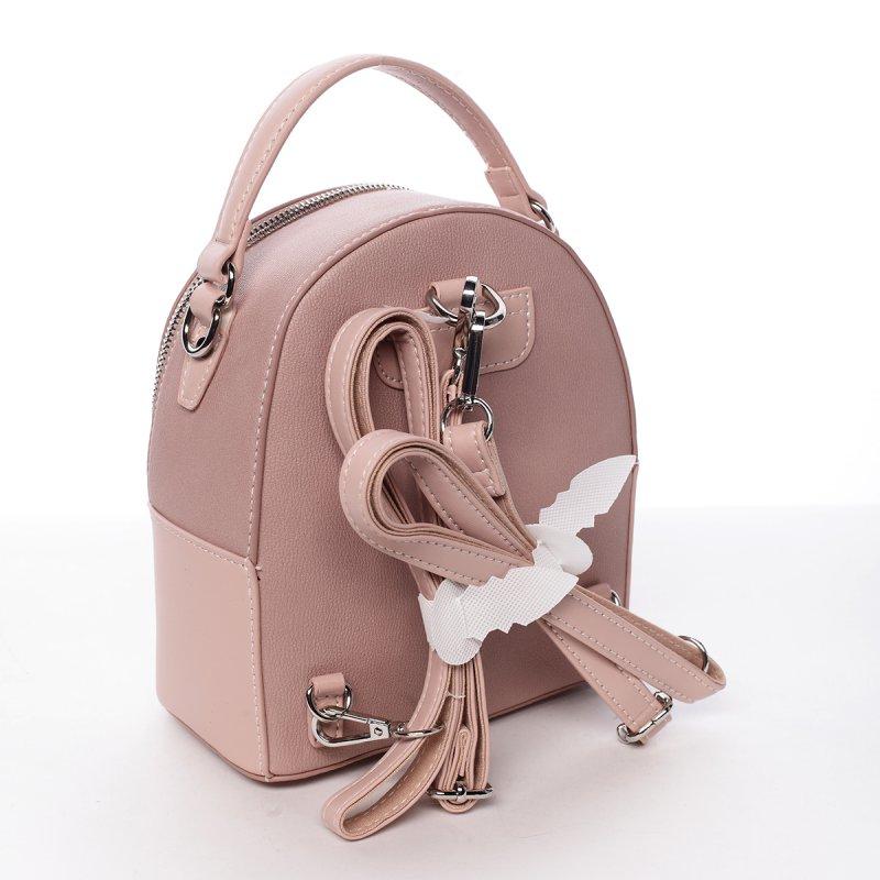 Módní stylový batůžek Jozefína růžová