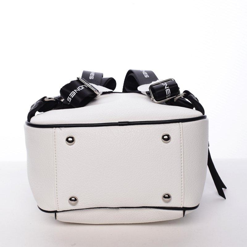Sportovní módní dámský batůžek Klára bílá