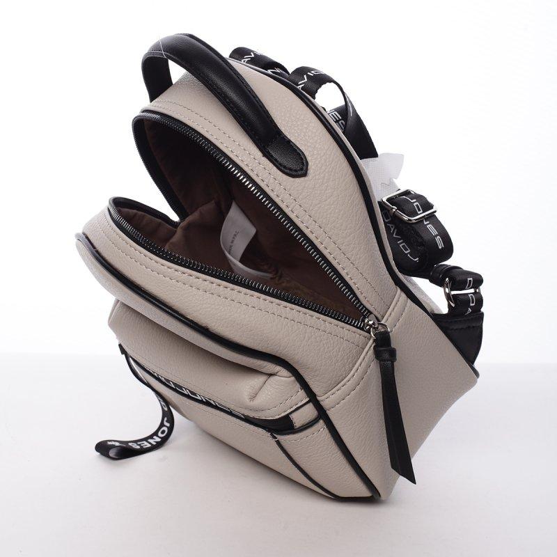 Sportovní módní dámský batůžek Klára béžová