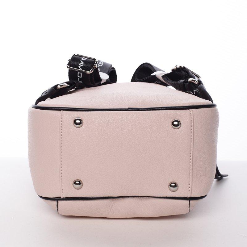 Sportovní módní dámský batůžek Klára růžová