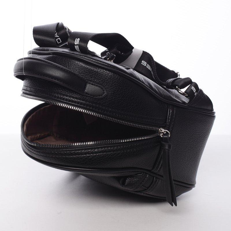 Sportovní módní dámský batůžek Klára černá