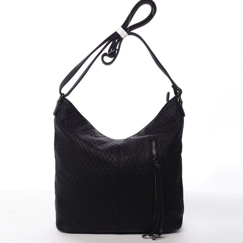 Praktická dámská koženková kabelka Nora černá
