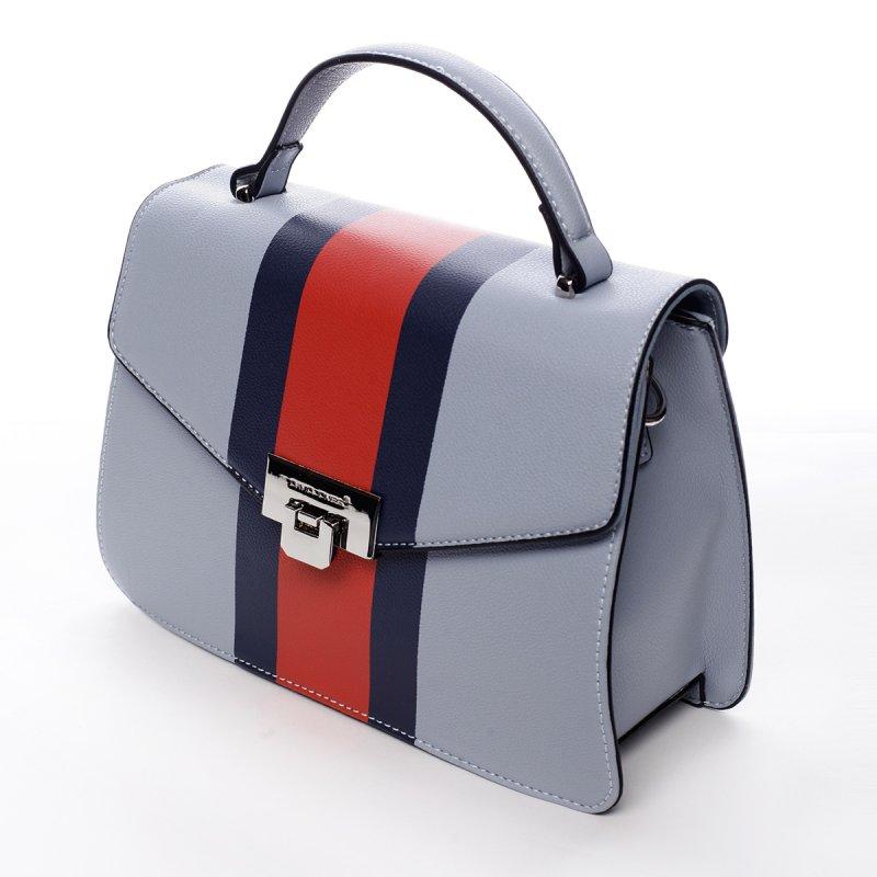 Módní dámská koženková kabelka Karina modrá