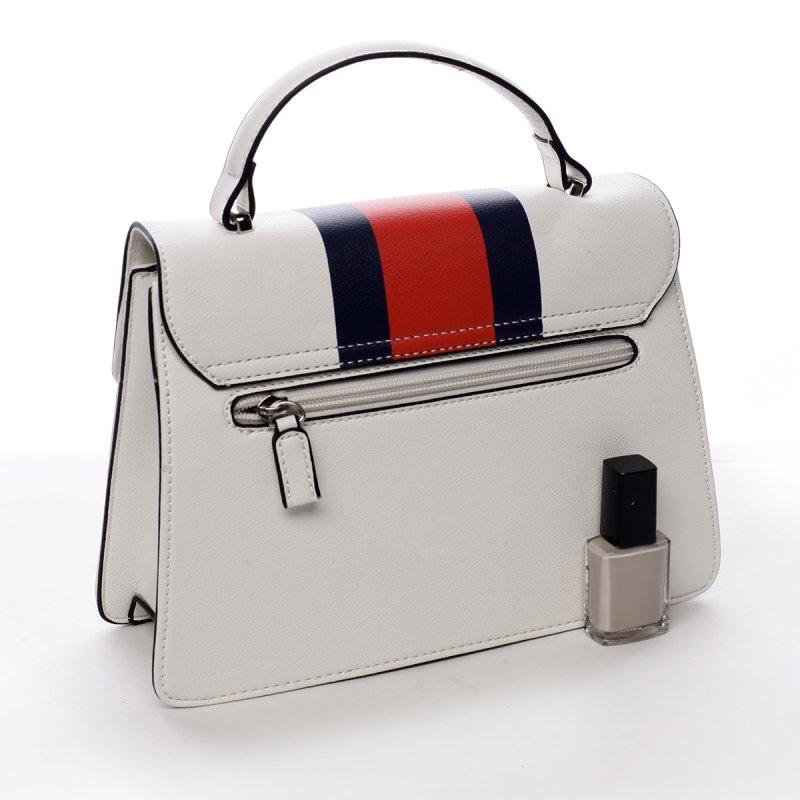Módní dámská koženková kabelka Karina bílá