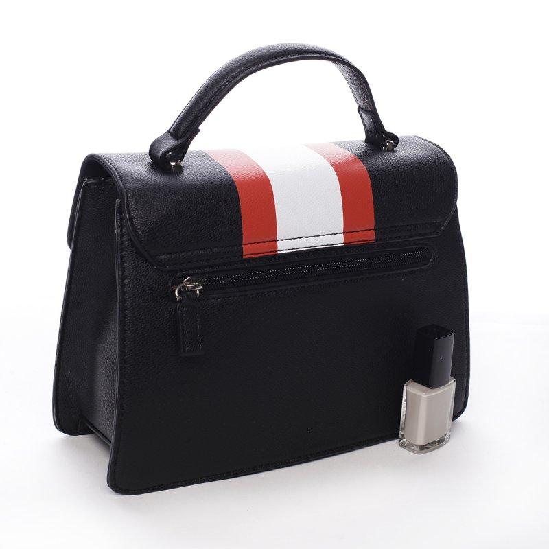 Módní dámská koženková kabelka Karina černá