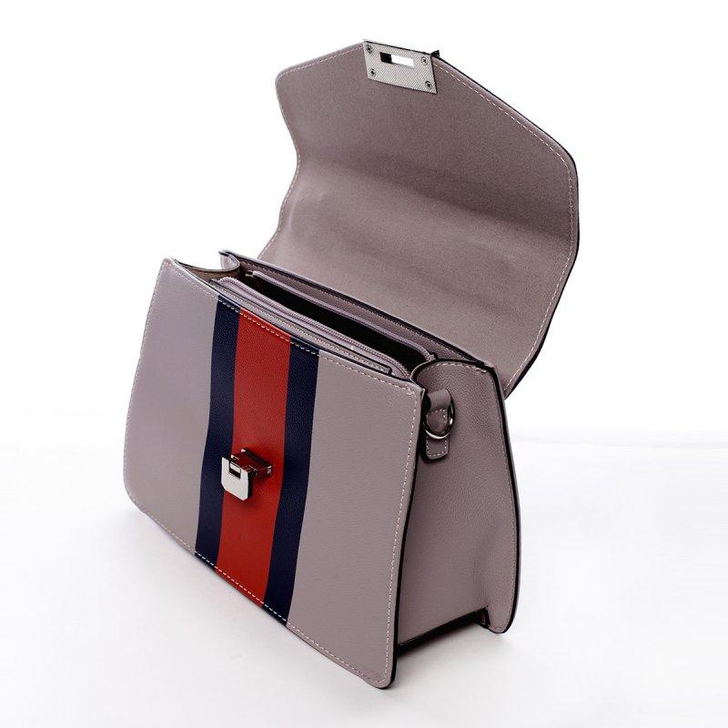 Módní dámská koženková kabelka Karina fialová