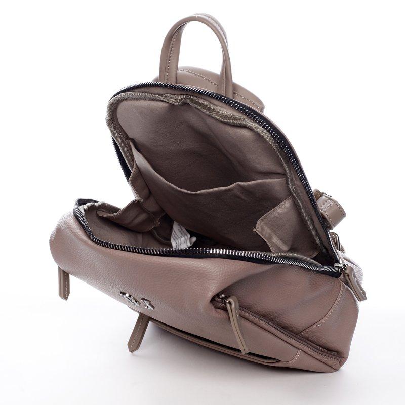 Dámský městský koženkový batoh Mia růžový