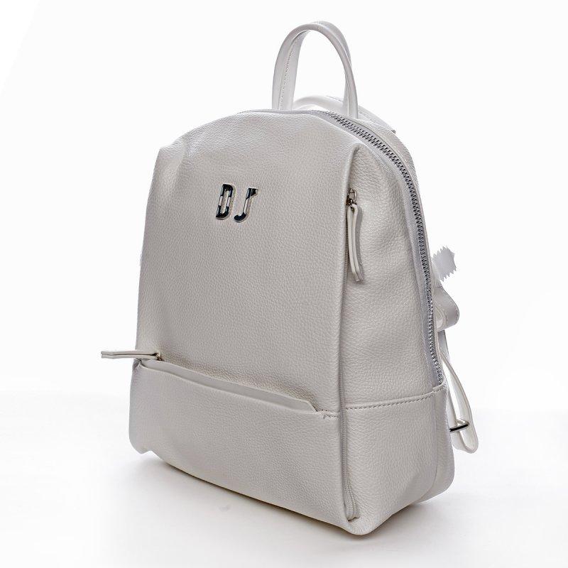 Dámský městský koženkový batoh Mia bílý