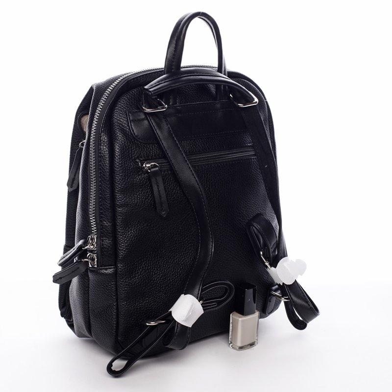 Dámský městský koženkový batoh Mia černý